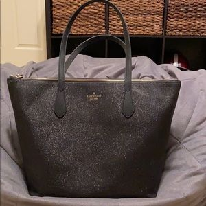 EUC authentic Kate Spade Joeley in black & sparkly